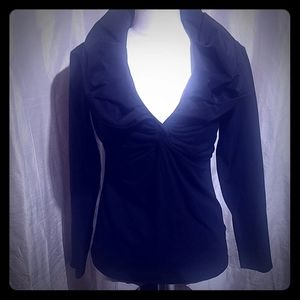 Black long sleeve with puffy colar